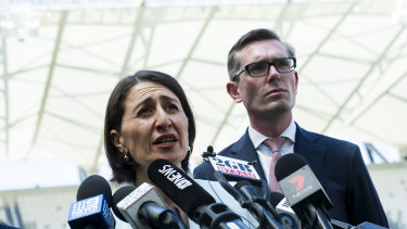 Premier Gladys Berejiklian and Treasurer Dominic Perrottet.