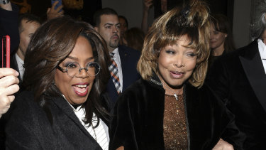 Unwell: Tina Turner with Oprah Winfrey in New York this month.