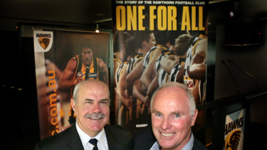 Leigh Matthews with Michael at the launch of <i>One For All</i> in August 2009.