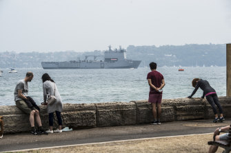 HMAS Choules will arrive in Victoria on Thursday.