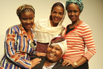 Rosemary Kariuki-Fyfe (bottom) with Yarrie Bangura, Aminata Conteh-Biger and Yordanos Haile-Michael from The Baulkham Hills African Ladies Troupe.