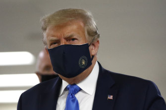 Donald Trump, who was reluctant to wear a mask, has been seen wearing them in public.
