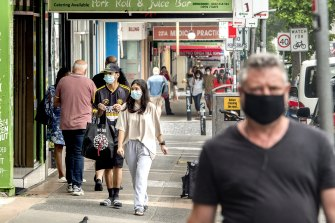 Mask wearing has increased around Sydney.