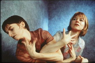 Ros Warby and Lucy Guerin in <i>Return Ticket</i> in 1997.