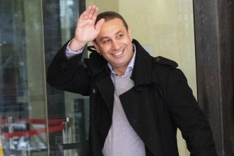 Marwan Haddad, a convicted drug dealer, is Michael's father.