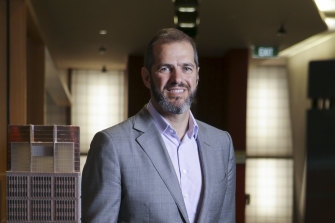 Grocon chairman and chief executive Daniel Grollo said Infrastructure New South Wales' handling of the Barangaroo project in Sydney had forced the developer to call in the administrators.
