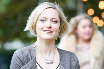 Missed opportunities: Georgina Haig plays bride-to-be Olivia in Secret Bridesmaids' Business.