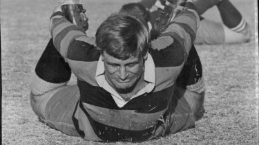 Hundred club: former captain John Thornett was just the second man to play 100 matches for the Wallabies.