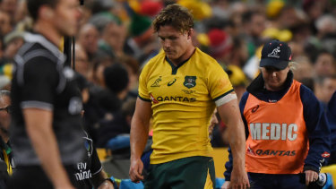 Ruled out: Michael Hooper's absence is a huge blow to the Wallabies.