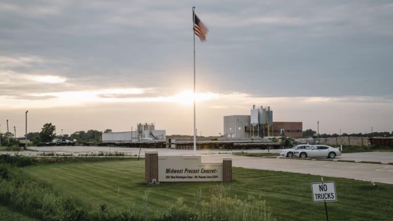 The Midwest Precast Concrete plant in Mount Pleasant, scene of the immigration raid.