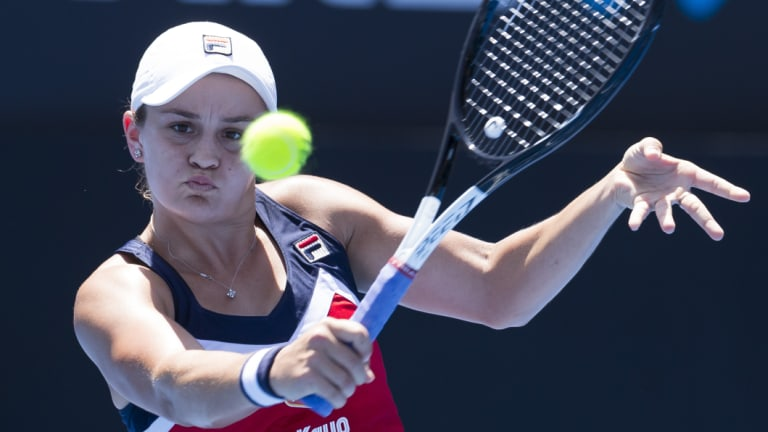 Fearless: Ash Barty cleaned up at least three higher-ranked opponents in Sydney last week.