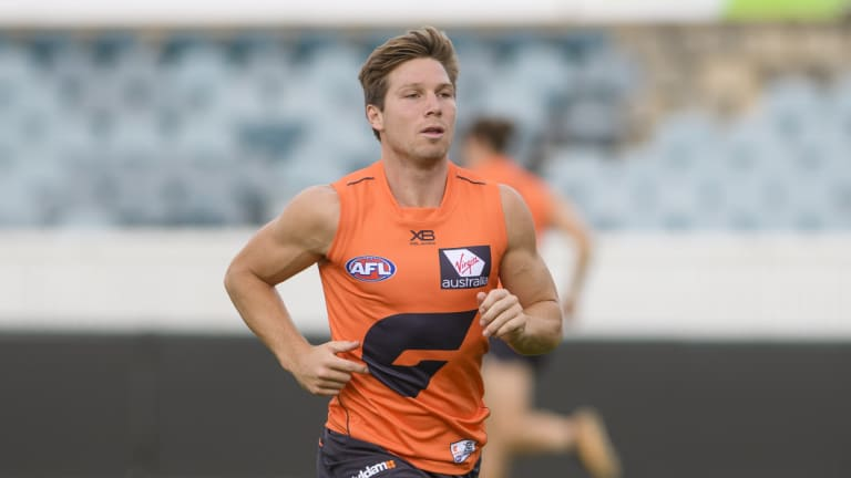 Back in the game: The Giants are willing to take a risk on Toby Greene to face Richmond.