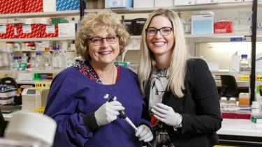Janet and Eloise Shaw are both completing their PhD in medical research at Prince Charles Hospital