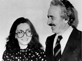 The Turkish Consul general Mr. Sarik Ariyak and his wife Demet, 1980.