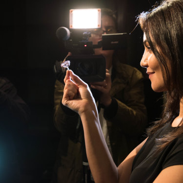 """The 59.6-carat """"Pink Star"""" fetched $94 million at auction."""