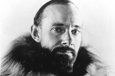 Australian explorer and war photographer Hubert Wilkins.