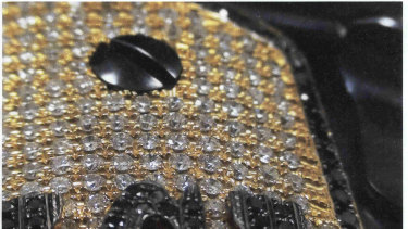 "A diamond-encrusted pistol that a government witness said belonged to Joaquin ""El Chapo"" Guzman."