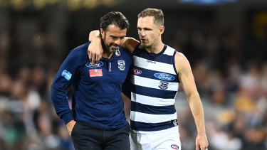 Chris Scott, left, and Joel Selwood, right, are no strangers to preliminary finals.