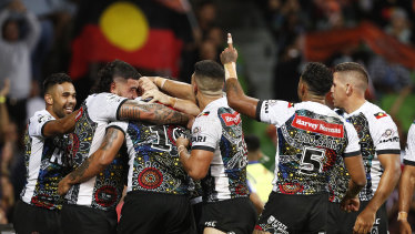 Last year, the majority of the Indigenous side did not sing the anthem during the clash.