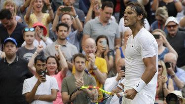 Nadal's long breaks between points angered Kyrgios.