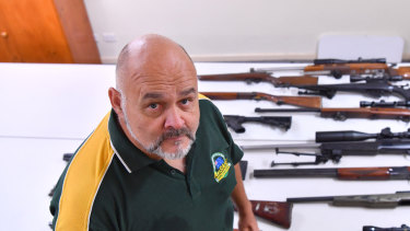 Michael Sloan, a licensed security business owner is one of several people who have raised concerns about Victoria Police's gun database.