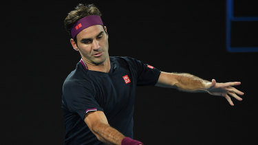 In control: Roger Federer blew away some cobwebs against American Steve Johnson.