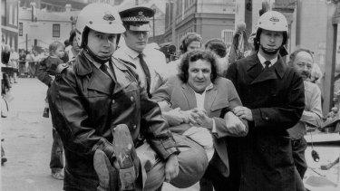 Jack Mundey's arrest in October 1973.