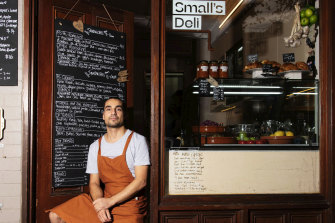 Ben Shemesh, co-owner of Small's Deli at Potts Point, has turned his sandwiches into a social media hit.