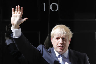 Boris Johnson going into Number 10 Downing Street as Prime Minister this week.