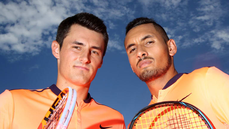 Bernard Tomic and Nick Kyrgios will play off against each other at Kooyong.