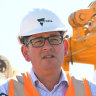 Premier Daniel Andrews announcing a three-month construction blitz.