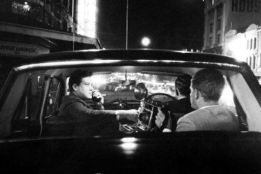 "A Fairfax reporter and ""snapper"" on overnight police round in Sydney, 1965."