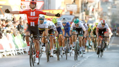 Canberra cyclist Michael Matthews wins Tour of Catalonia stage