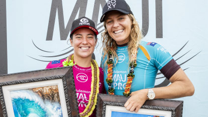 Gilmore beats Wright in Maui surf final