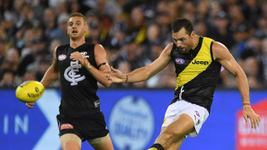 The Tigers claimed the first win of the season at the MCG last night.