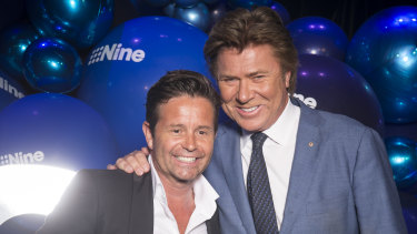 Steve Jacobs and Richard Wilkins at Nine's 2020 Upfronts in October.