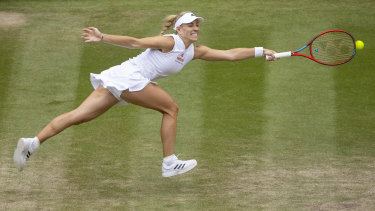 Kerber fought back in the second set but couldn't stop Barty.