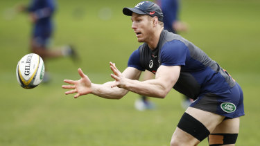 David Pocock is back in full Wallabies training.