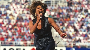 No encore: Tina Turner performing live at the 1993 NRL grand final at Allianz Stadium.