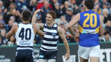 Sharp shooter: Gary Rohan has notched 15 goals in six games for Geelong.
