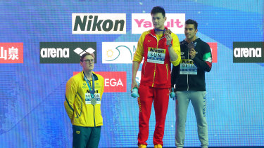 Mack Horton made headlines with his podium protest against Sun Yang at the world championships last year.