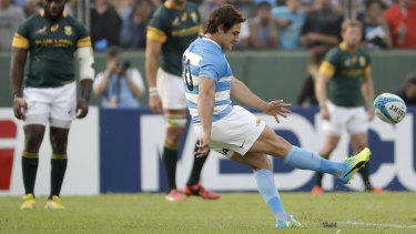 Argentina's Nicolas Sanchez will be pulling the strings in attack on Saturday.