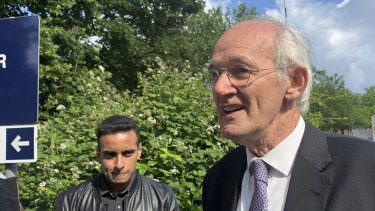 John Shipton, Julian Assange's father, visited the WikiLeaks founder at Belmarsh Prison in London on June 11.