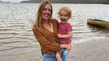 Laura Jackel and Leo aged 3.