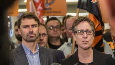 ACTU secretary Sally McManus has fired a warning shot.