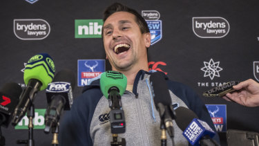 Relaxed: Pearce's demeanour this time around is in marked difference to previous Origin series.