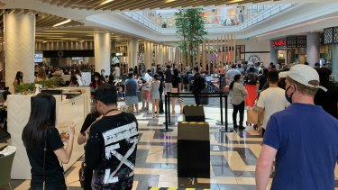 Inside Chadstone shopping centre on Friday.