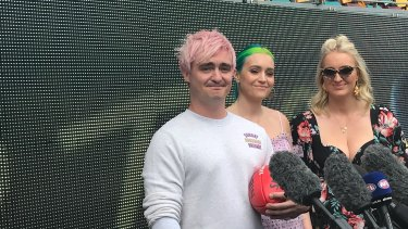 Sheppard's George, Amy and Emma at the Gabba.