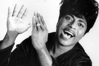 "Little Richard in 1966.  The self-proclaimed ""architect of rock 'n' roll"" whose piercing wail, pounding piano and towering pompadour irrevocably altered popular music while introducing black R&B to white America, has died."