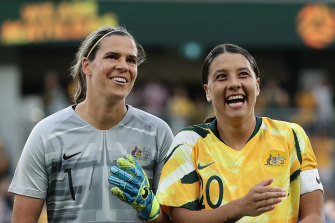 Get the band back together: Goalkeeper Lydia Williams wants the Matildas to begin training sessions and games after a three month hiatus.